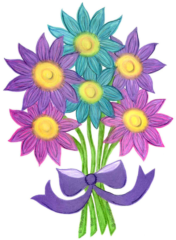 570x778 Clipart Bouquet Of Flowers
