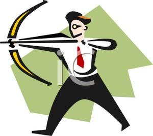 300x268 A Businessman With A Bow And Arrow