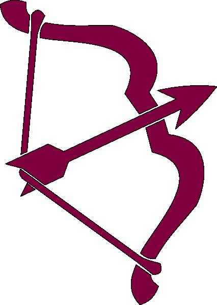 426x598 Purple Bow And Arrow Clip Art