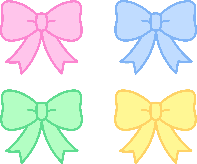 5345x4445 Cute Pastel Holiday Bows