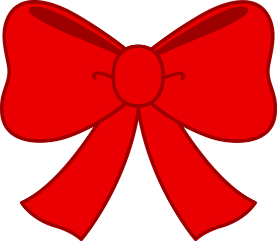 550x479 Cute Red Bow Clipart