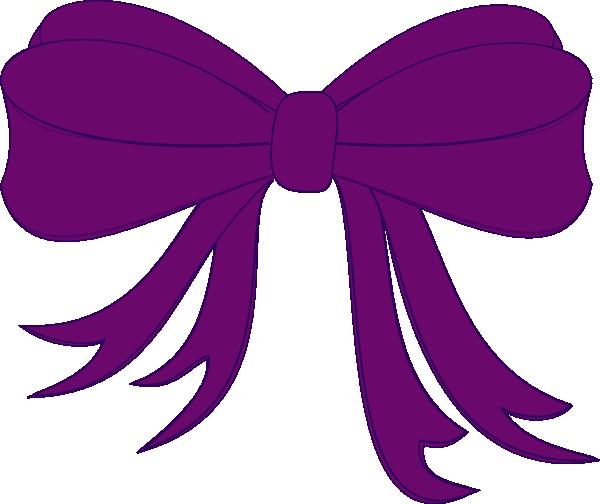 600x504 Purple Bow Clip Art