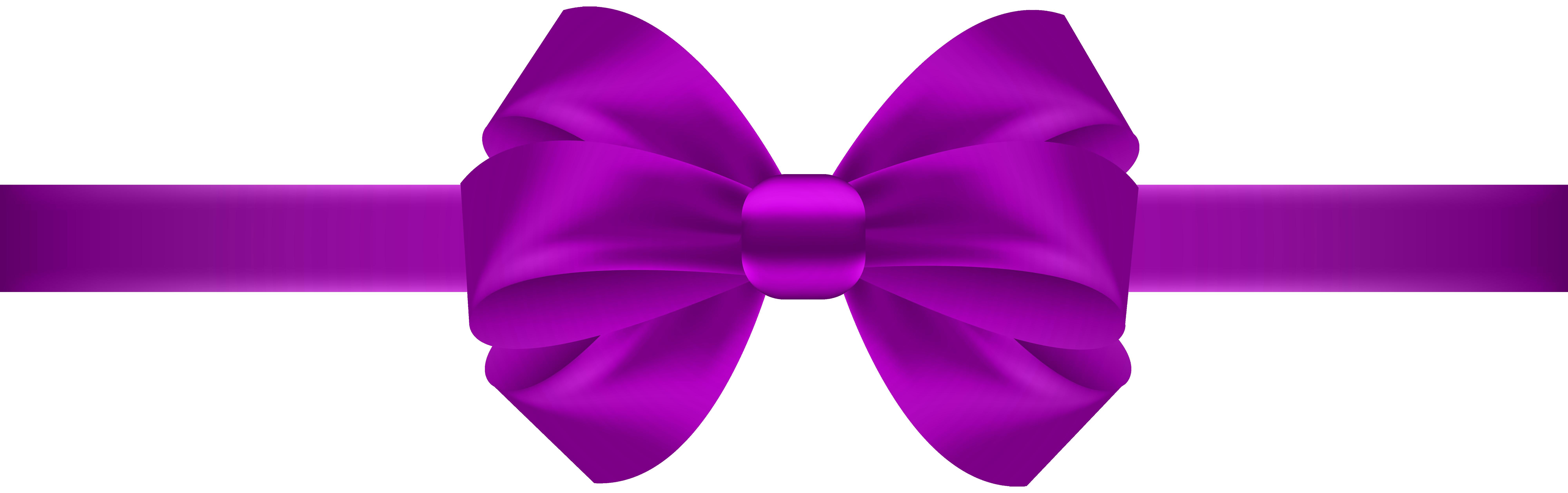 8000x2514 Purple Ribbon Clipart