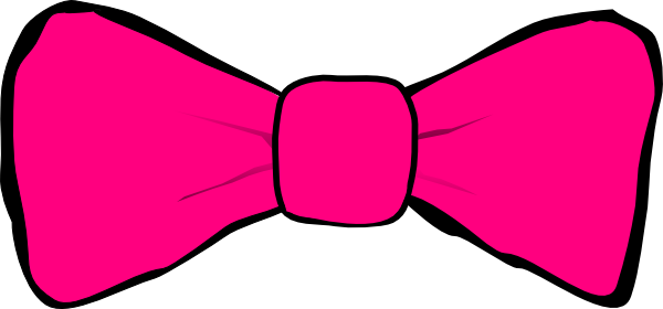 600x280 Pink Bow Clipart Hot Pink Bow Clip Art