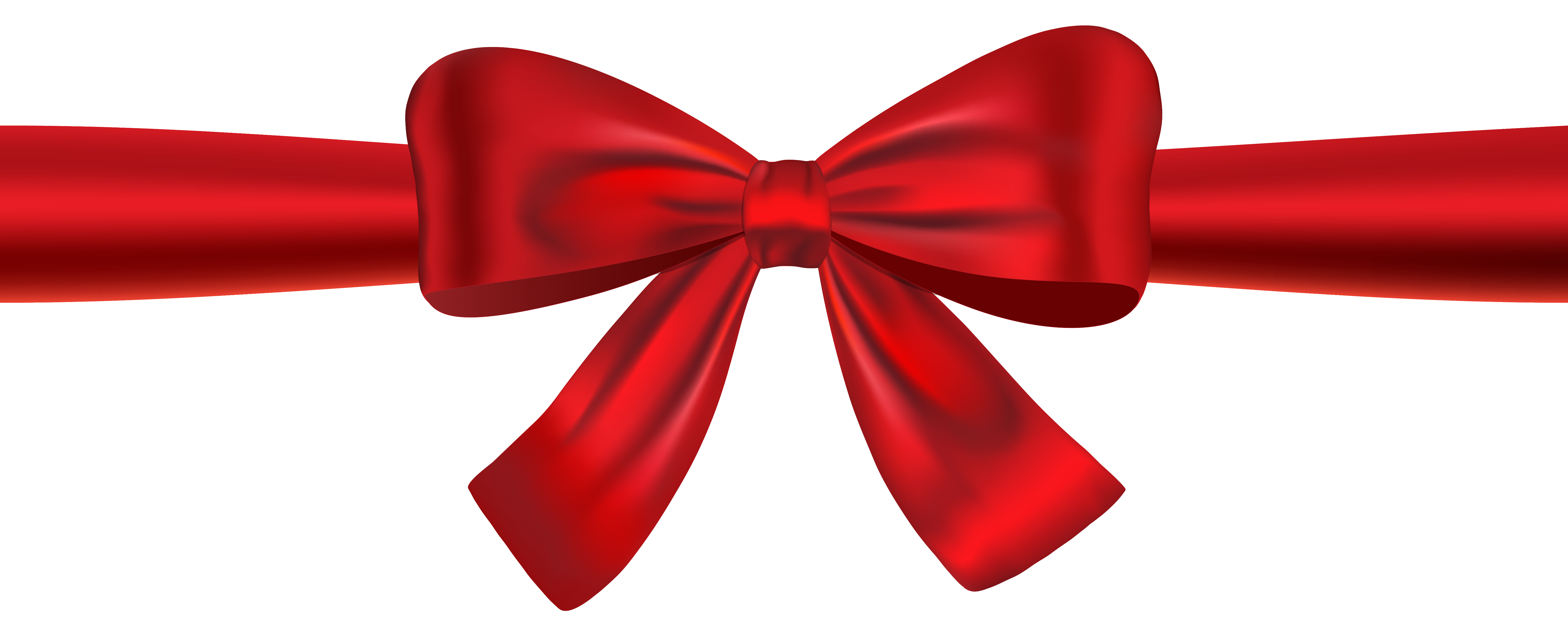 6110x2461 Red Ribbon And Bow Clipart Clippart. Clipart Images