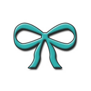 300x300 Free Clipart Illustration Of A Turquoise 3d Bow
