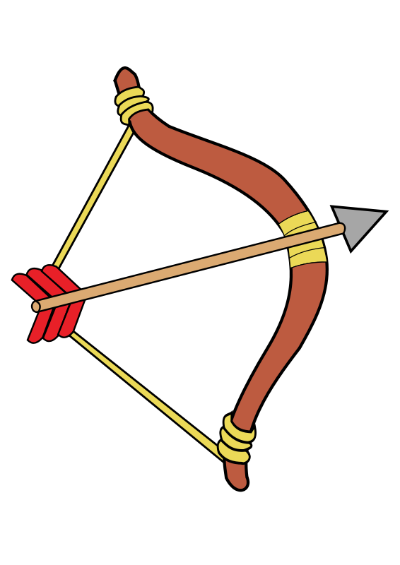 566x800 Indian Arrow Bow And Arrow Archery Clip Art