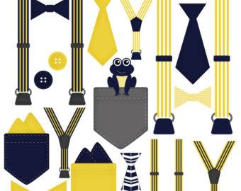 340x270 Boy Onesie Accessories Clip Art Pocket Handkerchief Suspender