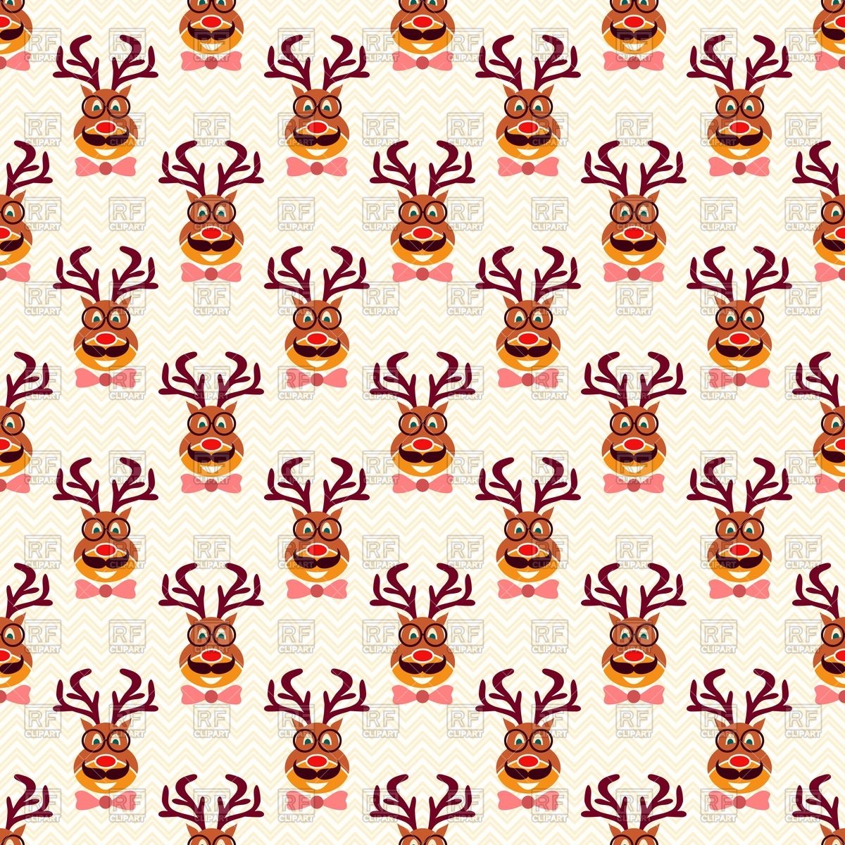 1200x1200 Christmas Wallpaper With Funny Hipster Deer With Mustache, Glasses