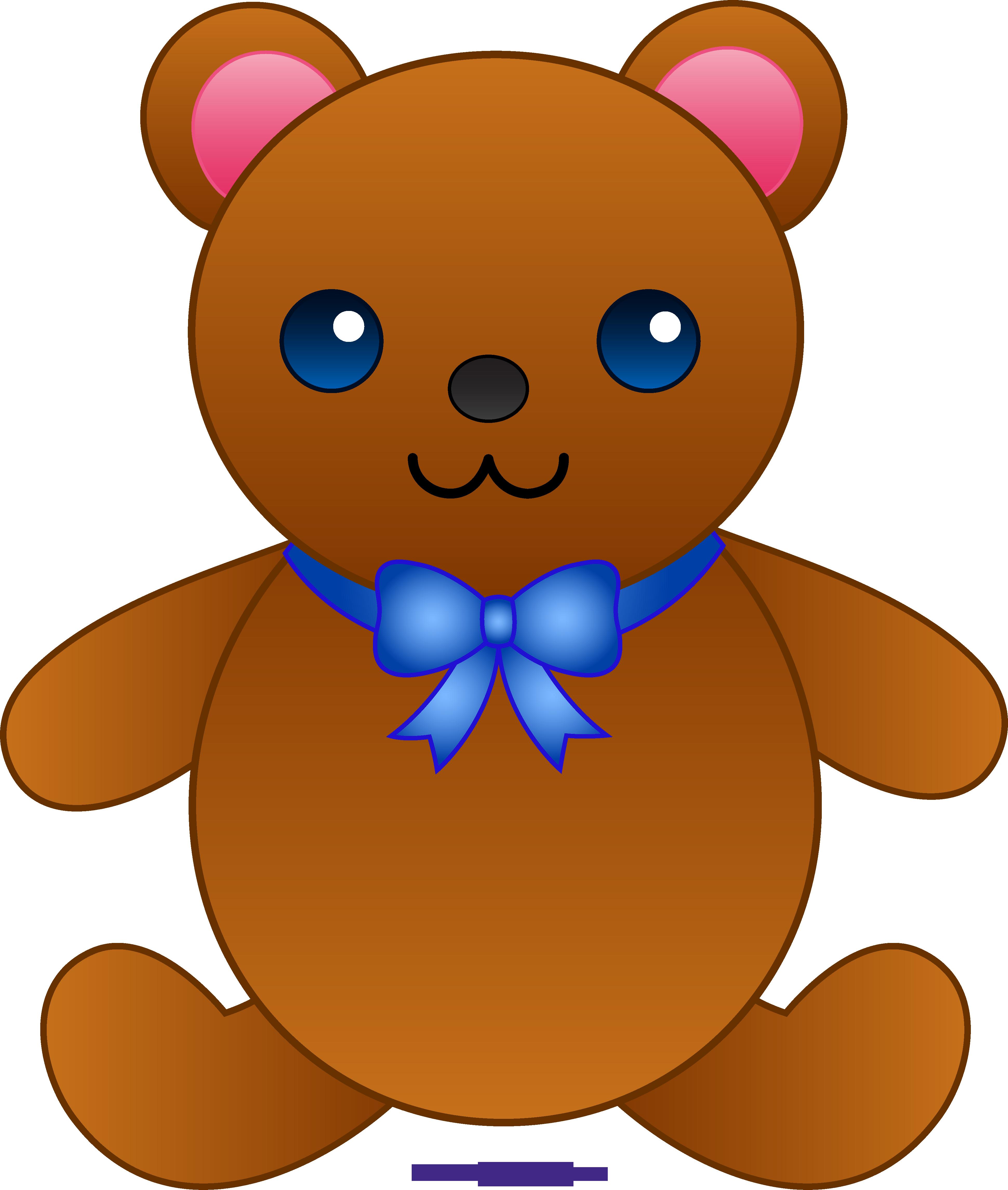 3881x4581 Cute Teddy Bear With Bowtie Clipart