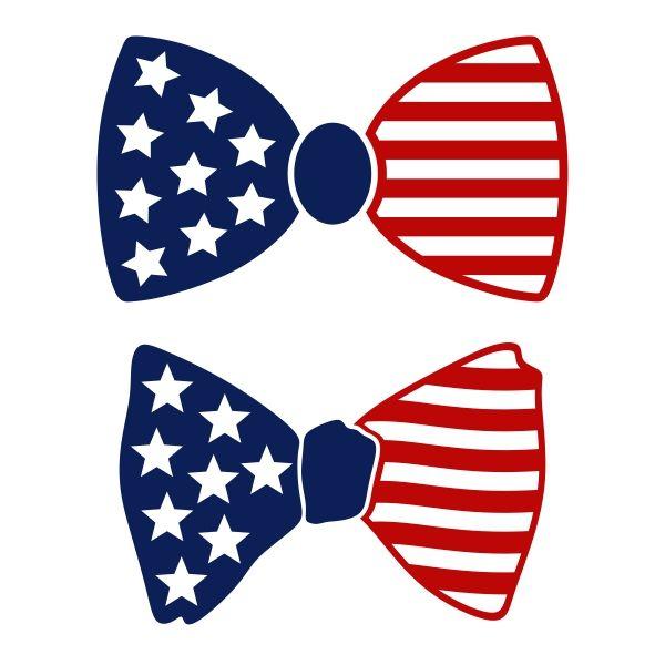 600x600 Us Flag Bow Tie Cuttable Design Cut File. Vector, Clipart, Digital
