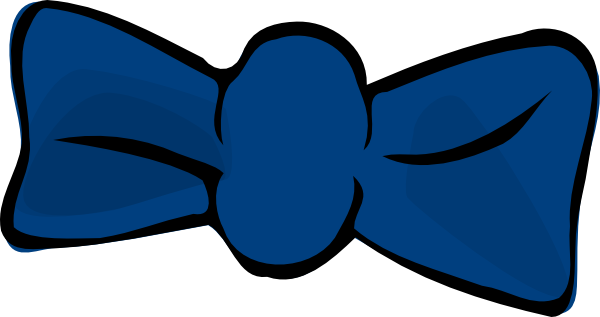 600x317 Blue Bow Clip Art