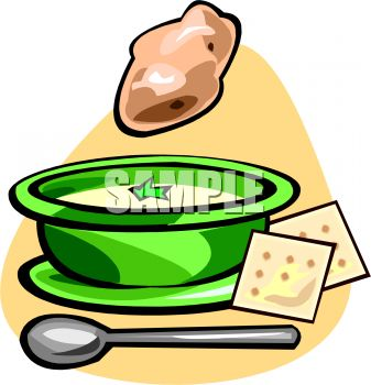 337x350 Awesome To Do Soup Clipart Bowl Of Potato With Crackers Royalty