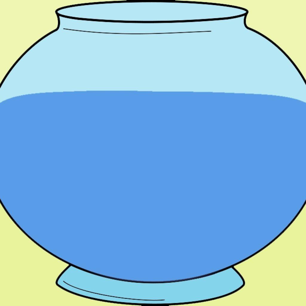1024x1024 Fish Bowl Clipart Wave Clipart