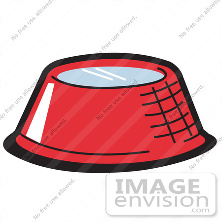 450x450 Royalty Free Cartoon Clip Art Of A Red Metal Dog Bowl With Fresh