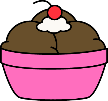 365x343 Bowl Chocolate Ice Cream Clip Art