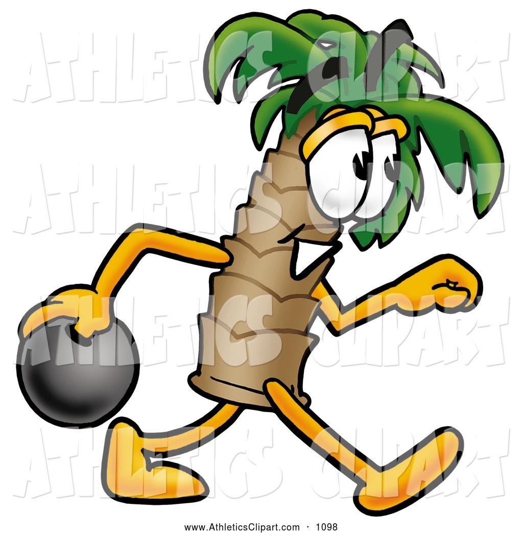 1024x1044 Cliprt Of Happy Palm Tree Mascot Cartoon Character Holding