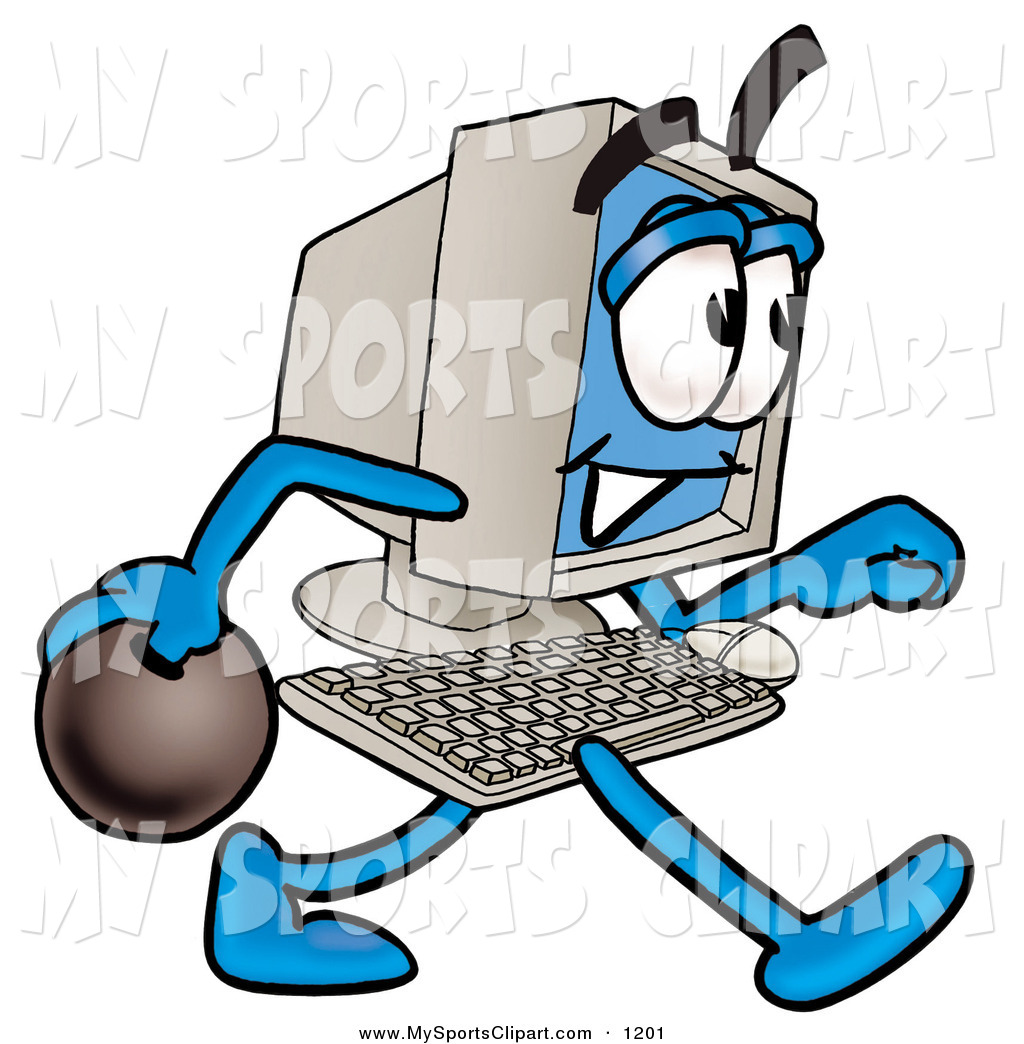 1024x1044 Sports Clip Art Of A Grinning Desktop Computer Mascot Cartoon