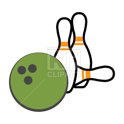 400x400 Bowling Pin And Ball Royalty Free Vector Clip Art Image