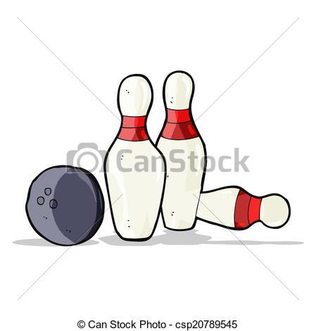 449x470 Cartoon Bowling Ball And Skittles Eps Vector