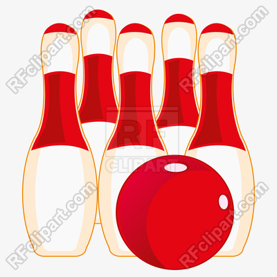 400x400 Skittles For Game Of Bowling On White Background Royalty Free