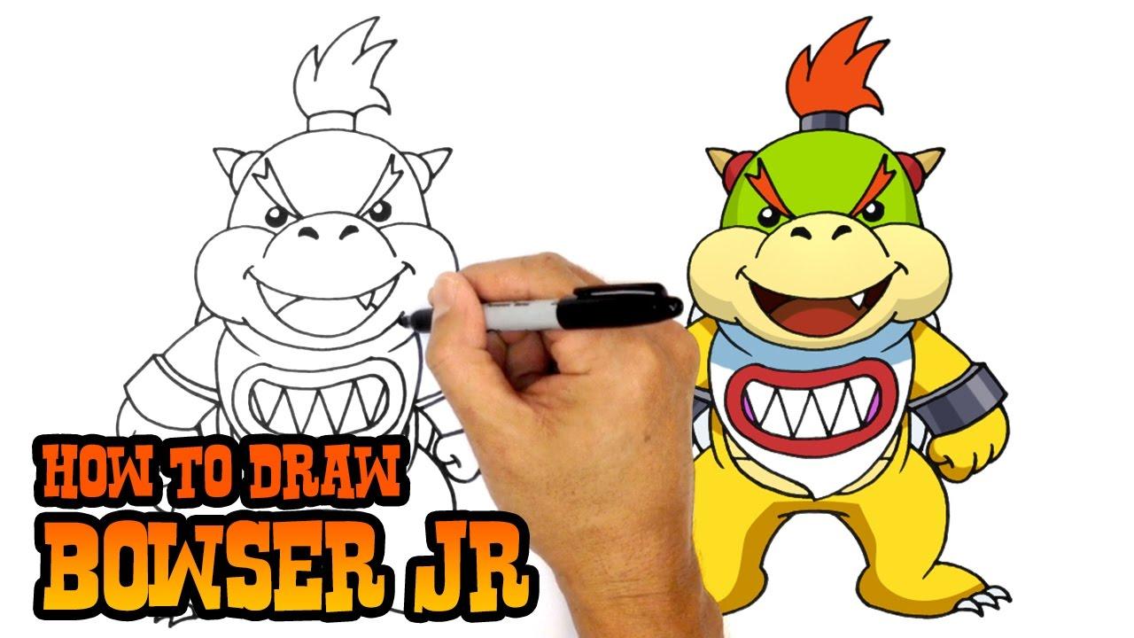 1280x720 How To Draw Bowser Jr. Super Mario Bros
