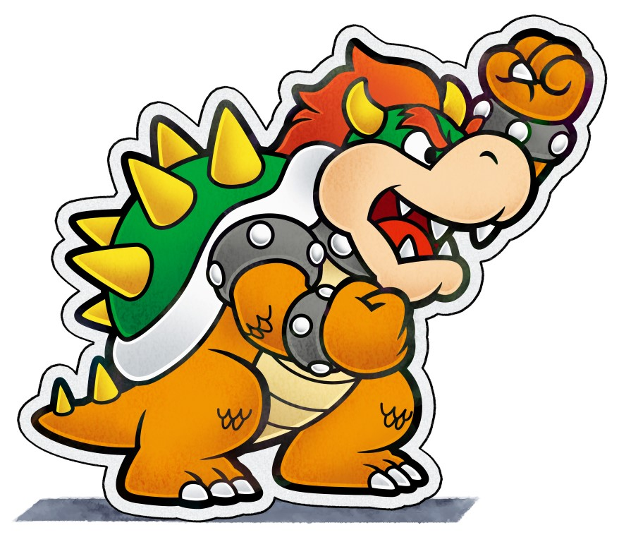 878x768 Paper Bowser Mariowiki Fandom Powered By Wikia