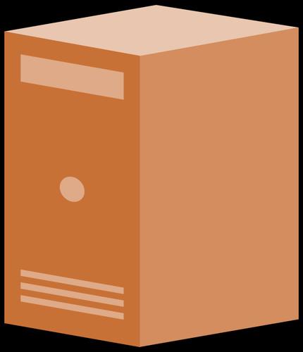 430x500 Brown Computer Box Vector Clip Art Public Domain Vectors