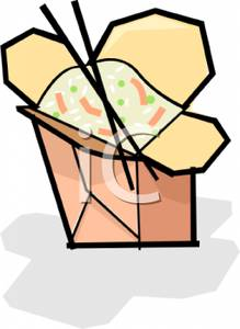 219x300 Clip Art Image Two Chopsticks With A Box Of Fried Rice
