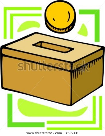 366x470 Donation Box Clipart