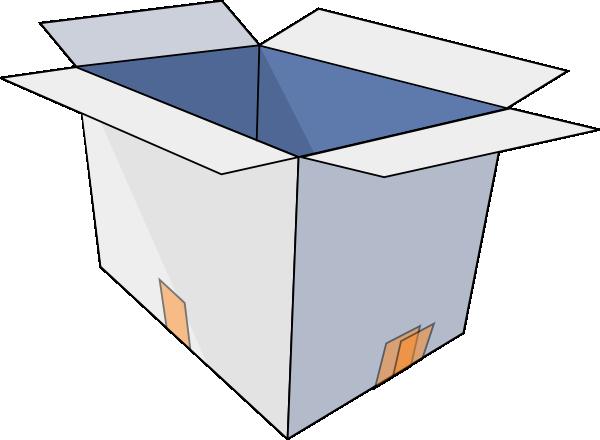 600x440 3d Empty Open Box Clip Art Free Vector 4vector