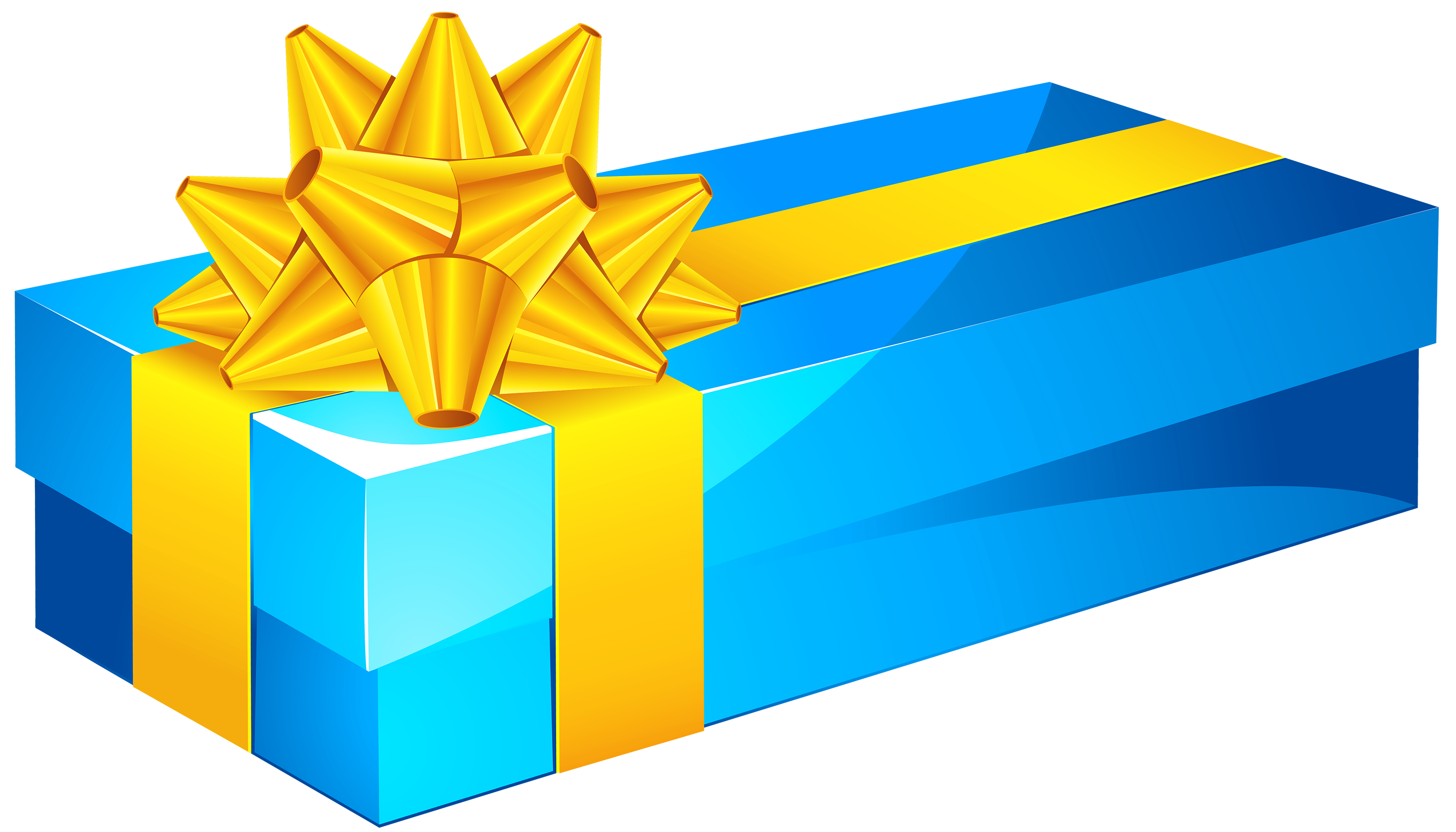 3000x1714 Blue Gift Box Png Clipart