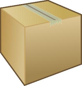 282x296 Box Clip Art