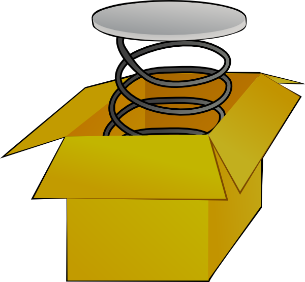 600x555 Box With Spring Clip Art