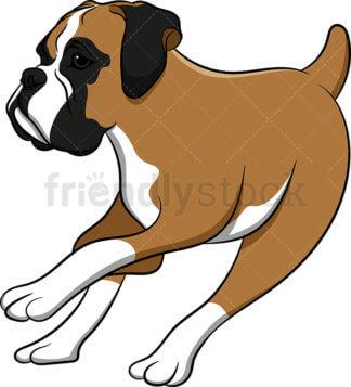 324x357 Boxer Dog Standing Still Cartoon Vector Clipart