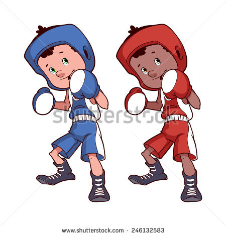 450x470 Boxer Clipart Two