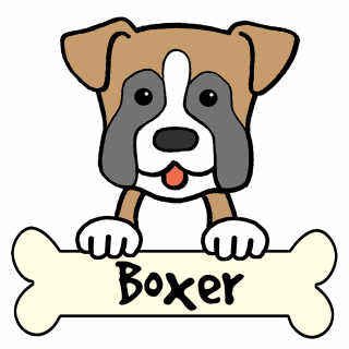 320x320 Tag For Boxer Dog Draw Cartoon