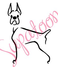 236x274 Boxer W Natural Ears Decal By Supatoon On Etsy Supatoon