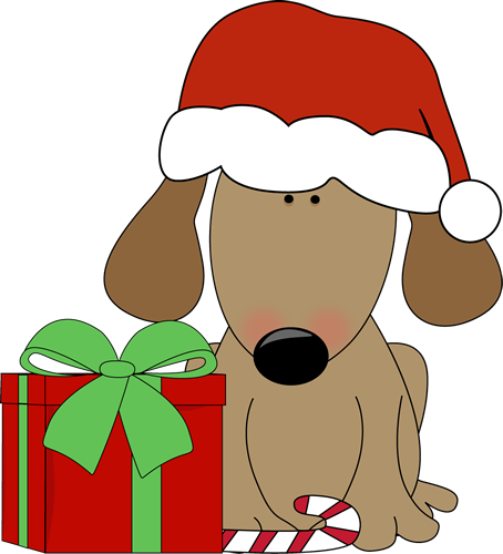 454x500 Dogs Christmas Cliparts Free Download Clip Art Clipart