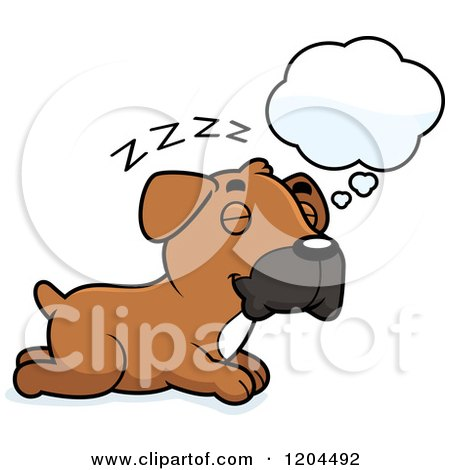450x470 Royalty Free (Rf) Dog Dream Clipart, Illustrations, Vector Graphics