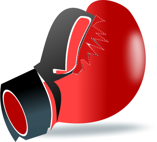 500x453 One Leather Boxing Glove Vector Clip Art Public Domain Vectors