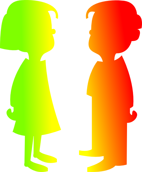 492x597 Figures Boy And Girl 7 Clip Art