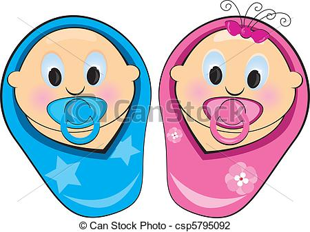 450x337 Illustration baby boy, girl Illustration baby boy, girl