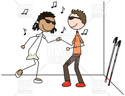 400x308 Blind Boy And Girl In Dancing Royalty Free Vector Clip Art Image
