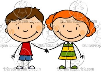 350x263 Cartoon Boy and Girl Holding Hands Clipart Drawings Pinterest