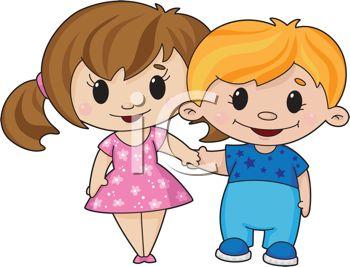 350x267 Cartoon Sweethearts Holding Hands