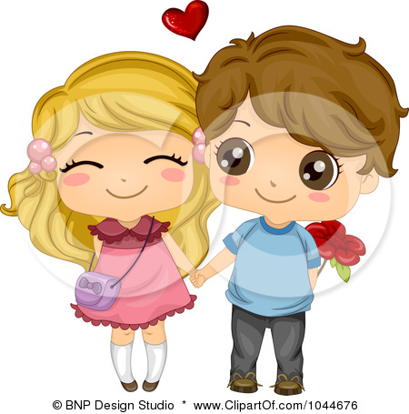 450x455 Clipart boy and girl holding hands
