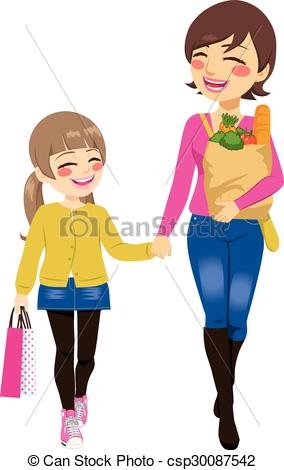 284x470 Mom And Daughter Walking Clipart Amp Mom And Daughter Walking Clip