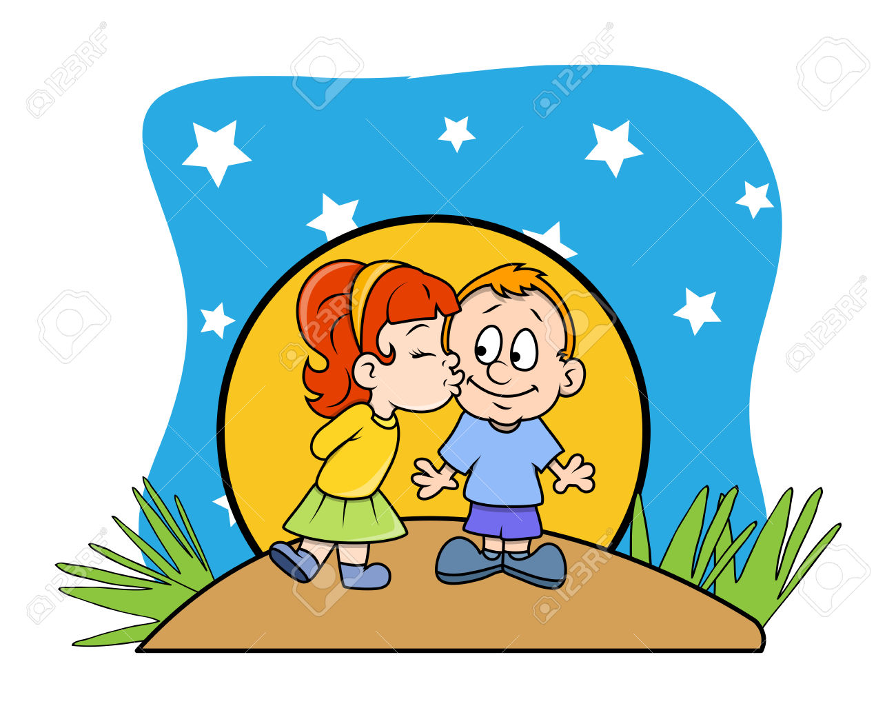 1300x1040 Boy N Girl Kissing Clipart