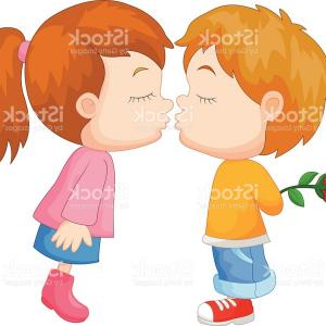 300x300 Cartoon Boy And Girl Kissing Gm Sohadacouri